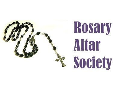 Rosary Altar Sign